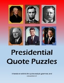 Presidential Quote Puzzles BUNDLE