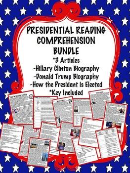 Presidential Reading Comprehension Bundle; Clinton, Trump,