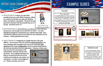 Presidential Report Card Project