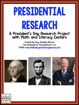 President's Day!  Presidential Research:  A Presidents Research Project