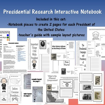 Presidential Research Interactive Notebook- Growing Set