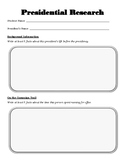 Presidential Research Packet