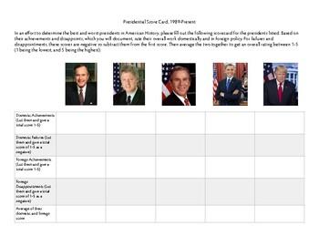 Presidential Scorecard: 1989-Present