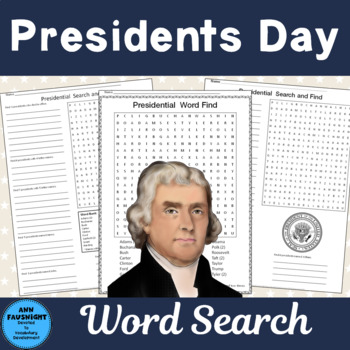 Presidential Word Search