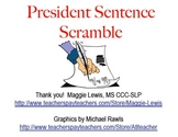 Presidential Sentence Scramble Freebie!