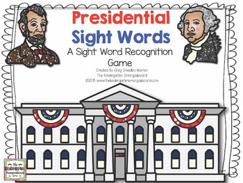 Presidential Sight Words!Sight Words With George Washingto