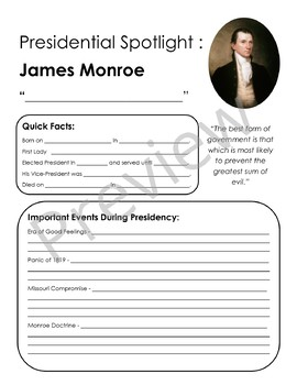 Presidential Spotlight: James Monroe