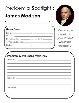 Presidential Spotlight: Madison