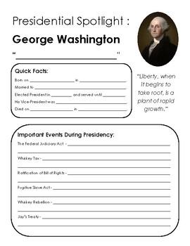 Presidential Spotlight: Washington