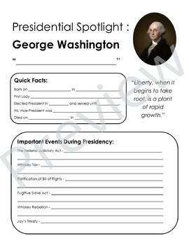 Presidential Spotlights (GROWING BUNDLE)