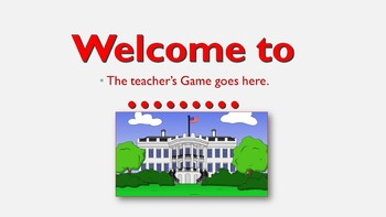 Presidential Squares PowerPoint Game Template