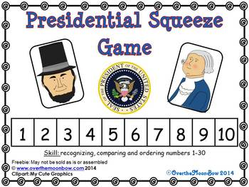 Presidential Squeeze Number Game