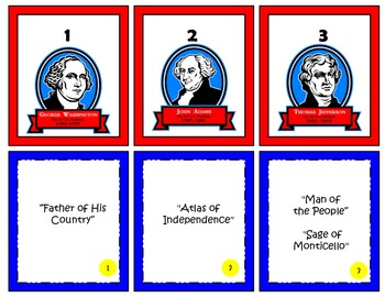Presidents - {Presidential Suite All  U.S. Presidents} Matching Activity