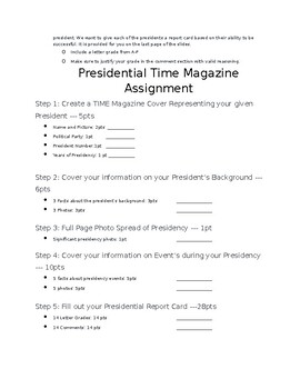 Presidential TIME Magazine Project