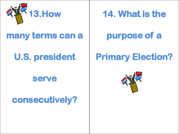 Presidential Task Cards - How to become the President?