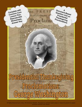Presidential Thanksgiving Proclamation Washington DBQ Unit (PPTX for 1 to 1)