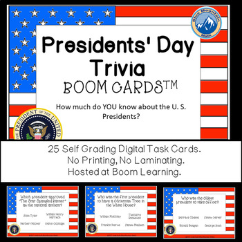 Presidential Trivia Boom Cards--Digital Task Cards