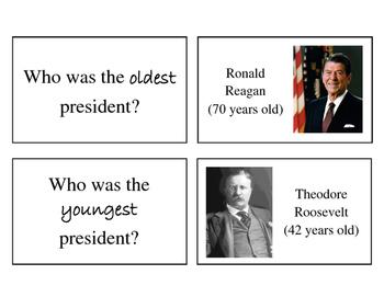 Presidential Trivia Brain Builder Task Cards
