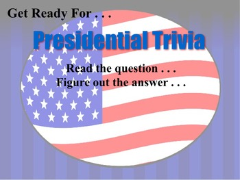 Presidential Trivia - Executive Branch Game