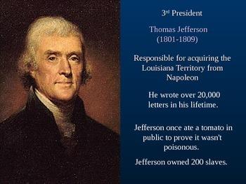Presidential Trivia PowerPoint