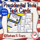 PRESIDENTIAL TRIVIA TASK CARDS Presidents' Day Activities Research History