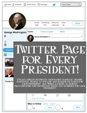 Twitter Page for Each President