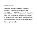 Presidential Voting Writing Prompt