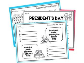 Presidential Word Work