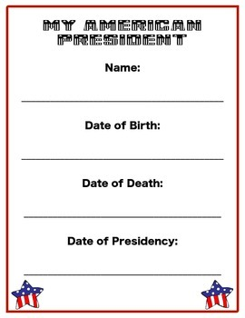Presidential Writing Packet