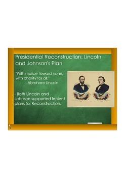 Presidential v. Congressional Reconstruction in South Carolina