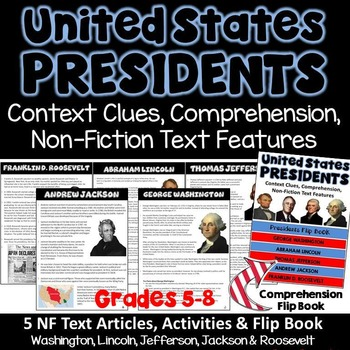 Presidents - Informational Text Passages and Comprehension