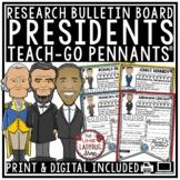 Digital US Presidents Day Research Bulletin Board, Biograp
