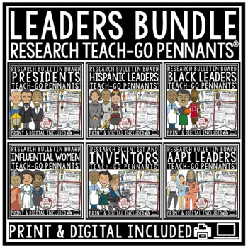 Presidents Research Poster Pennants [Presidents' Day Resea