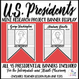 U.S. Presidents | President's Day Research Activity