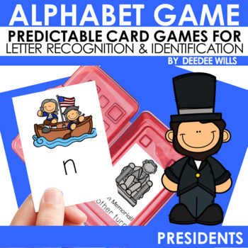 Presidents ABC Game ~ editable