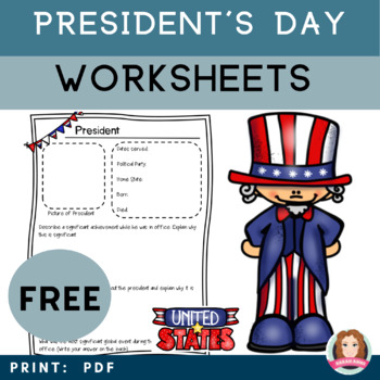 Presidents Activity Bundle #POTUS #Presidents Day