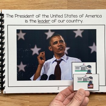 Presidents Adapted Book And Activities (W/Real Photos)