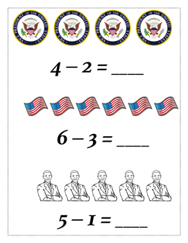 Presidents Addition and Subtraction