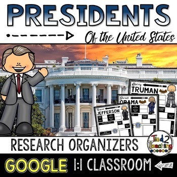 Presidents Biography Report & Informational Writing: Google Classroom