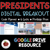 Presidents Breakout - Presidents Day Escape Room - America - Activities