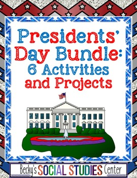 Presidents' Day Bundle for Middle School: 6 Activities and Projects