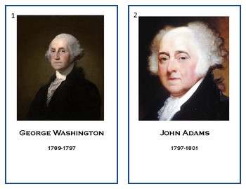 Presidents Cards