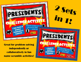 Presidents Challenge Activity - 8 Task Card Puzzles (Set 1 & 2) Bundle!