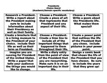 Presidents Choice Board