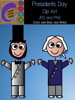 Presidents Clip Art George Washington and Abraham Lincoln
