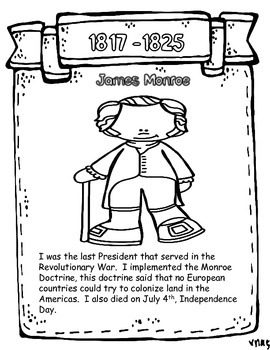 Presidents Content Coloring Book