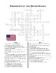 Social Studies: Presidents Crossword Puzzle and Word Search