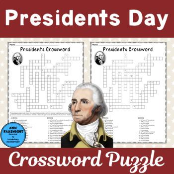 Presidents Crossword Puzzle