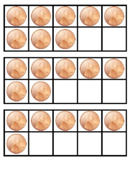 President's Day 10 Frame Flashcards ~ Common Core ~ Penny Ten Frame