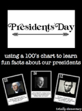 #HALFTIMEDOLLARDEALS Presidents' Day 100's Chart Activity Fun Presidential Facts